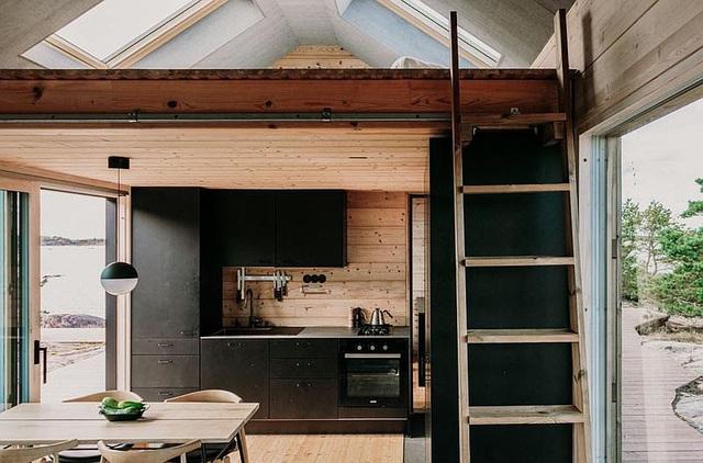 Ngôi nhà nhỏ xíu kiểu cabin mang phong cách Scandinavia đẹp đến nao lòng - Ảnh 4.