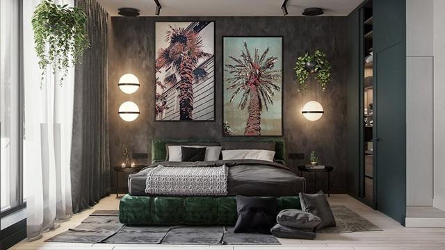 Căn hộ gây ấn tượng mạnh mẽ khi gia chủ dùng nội thất màu xanh lá cây - Ảnh 7.