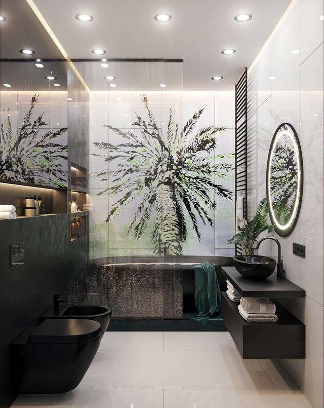 Căn hộ gây ấn tượng mạnh mẽ khi gia chủ dùng nội thất màu xanh lá cây - Ảnh 9.