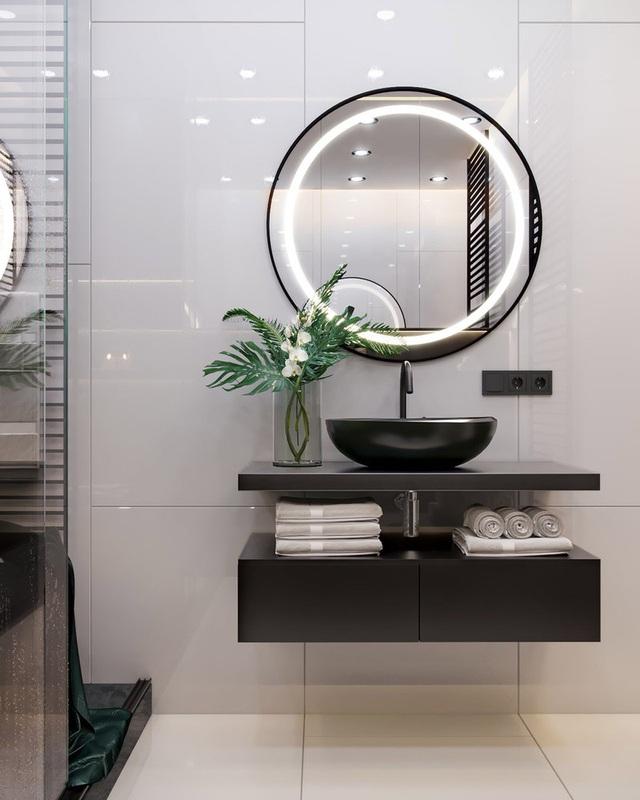 Căn hộ gây ấn tượng mạnh mẽ khi gia chủ dùng nội thất màu xanh lá cây - Ảnh 10.