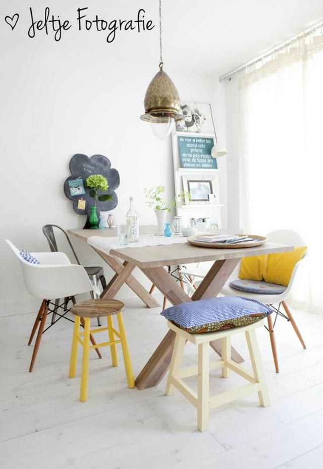 Những ý tưởng tạo vẻ đẹp thời thượng cho phòng ăn bằng bí quyết kết hợp nội thất - Ảnh 1.