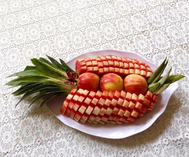 Mẹ đảm trình bày đĩa hoa quả như một bức tranh không ai nỡ ăn - Ảnh 5.