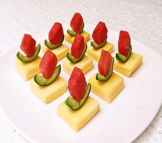 Mẹ đảm trình bày đĩa hoa quả như một bức tranh không ai nỡ ăn - Ảnh 6.