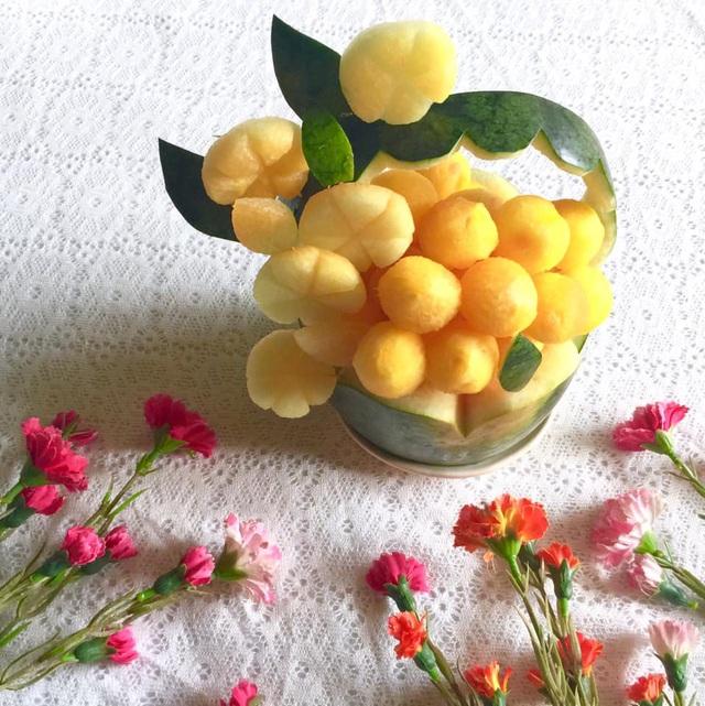 Mẹ đảm trình bày đĩa hoa quả như một bức tranh không ai nỡ ăn - Ảnh 13.