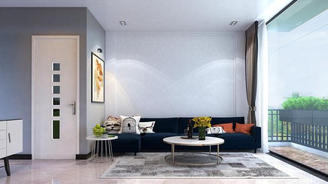 Nhà phố sử dụng tông màu trắng mang đến cảm giác không gian rộng gấp đôi - Ảnh 1.