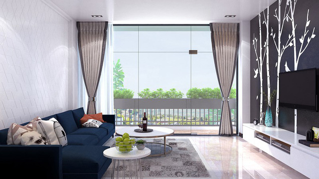 Nhà phố sử dụng tông màu trắng mang đến cảm giác không gian rộng gấp đôi - Ảnh 2.