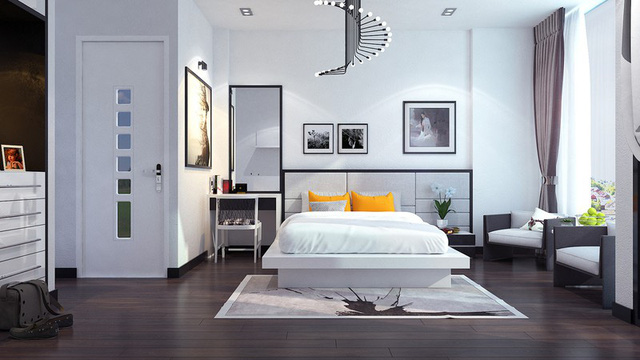 Nhà phố sử dụng tông màu trắng mang đến cảm giác không gian rộng gấp đôi - Ảnh 7.
