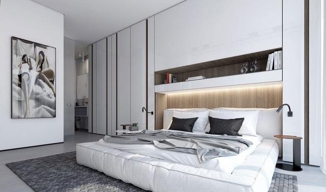 Ai muốn phòng ngủ của mình sang trọng mãi với thời gian đừng bỏ qua các mẫu phòng ngủ màu trắng đẹp hớp hồn này - Ảnh 10.