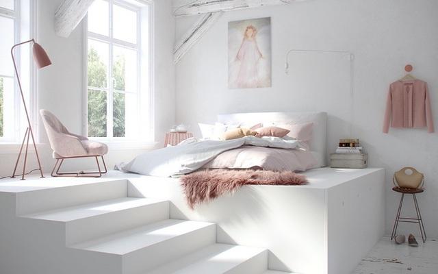 Ai muốn phòng ngủ của mình sang trọng mãi với thời gian đừng bỏ qua các mẫu phòng ngủ màu trắng đẹp hớp hồn này - Ảnh 4.