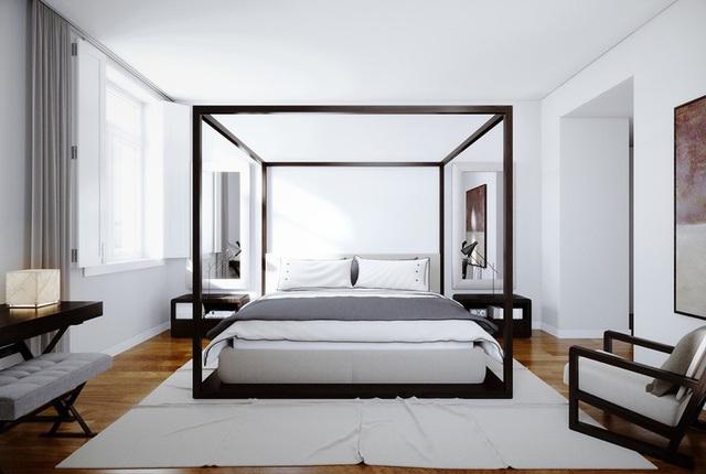 Ai muốn phòng ngủ của mình sang trọng mãi với thời gian đừng bỏ qua các mẫu phòng ngủ màu trắng đẹp hớp hồn này - Ảnh 6.
