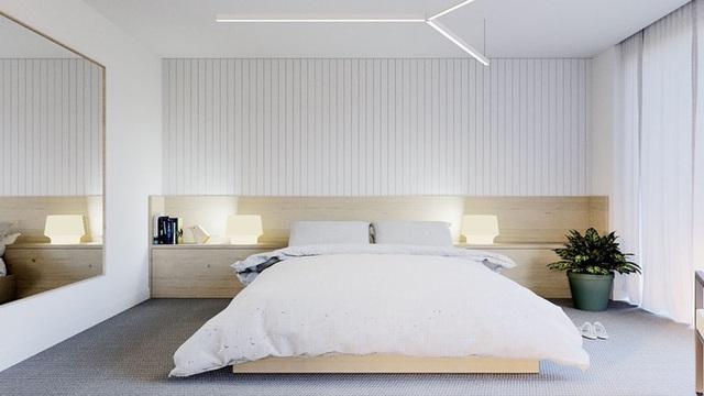 Ai muốn phòng ngủ của mình sang trọng mãi với thời gian đừng bỏ qua các mẫu phòng ngủ màu trắng đẹp hớp hồn này - Ảnh 8.