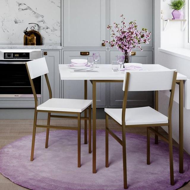Những mẫu bàn ăn nhỏ làm thay đổi quan niệm chỉ có bàn ăn to mới sang, đẹp của nhiều người - Ảnh 10.