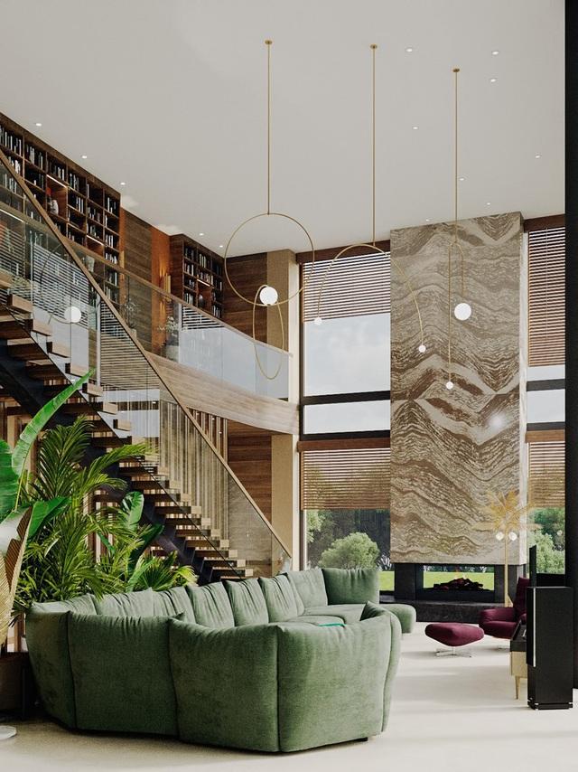 Ngôi nhà rộng rãi gây ấn tượng khi sử dụng tầng lửng làm phòng đọc - Ảnh 2.