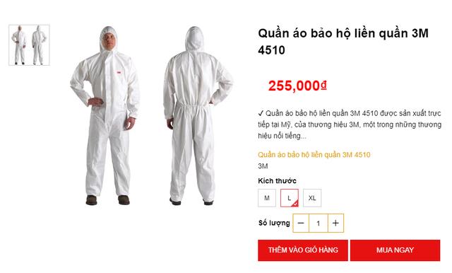 Bộ quần áo phòng dịch bán đa dạng tại các địa chỉ online, giá tuy cao nhưng là phương án được nhiều người tiêu dùng cân nhắc - Ảnh 4.