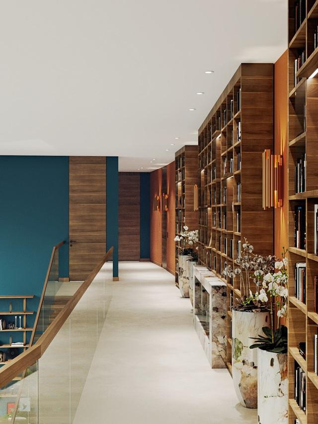 Ngôi nhà rộng rãi gây ấn tượng khi sử dụng tầng lửng làm phòng đọc - Ảnh 4.