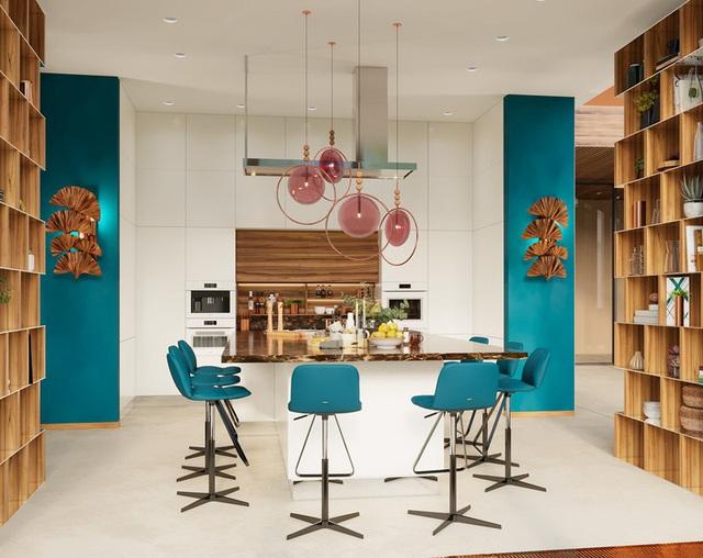 Ngôi nhà rộng rãi gây ấn tượng khi sử dụng tầng lửng làm phòng đọc - Ảnh 5.