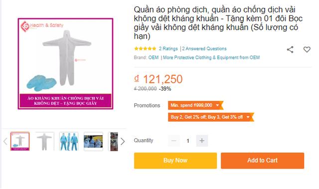 Bộ quần áo phòng dịch bán đa dạng tại các địa chỉ online, giá tuy cao nhưng là phương án được nhiều người tiêu dùng cân nhắc - Ảnh 7.