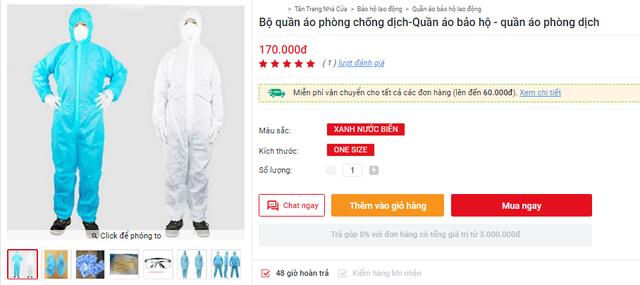 Bộ quần áo phòng dịch bán đa dạng tại các địa chỉ online, giá tuy cao nhưng là phương án được nhiều người tiêu dùng cân nhắc - Ảnh 8.