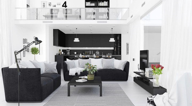 Trang trí phòng khách bằng cặp màu cổ điển này đảm bảo 10 người đến chơi 9 người khen - Ảnh 3.