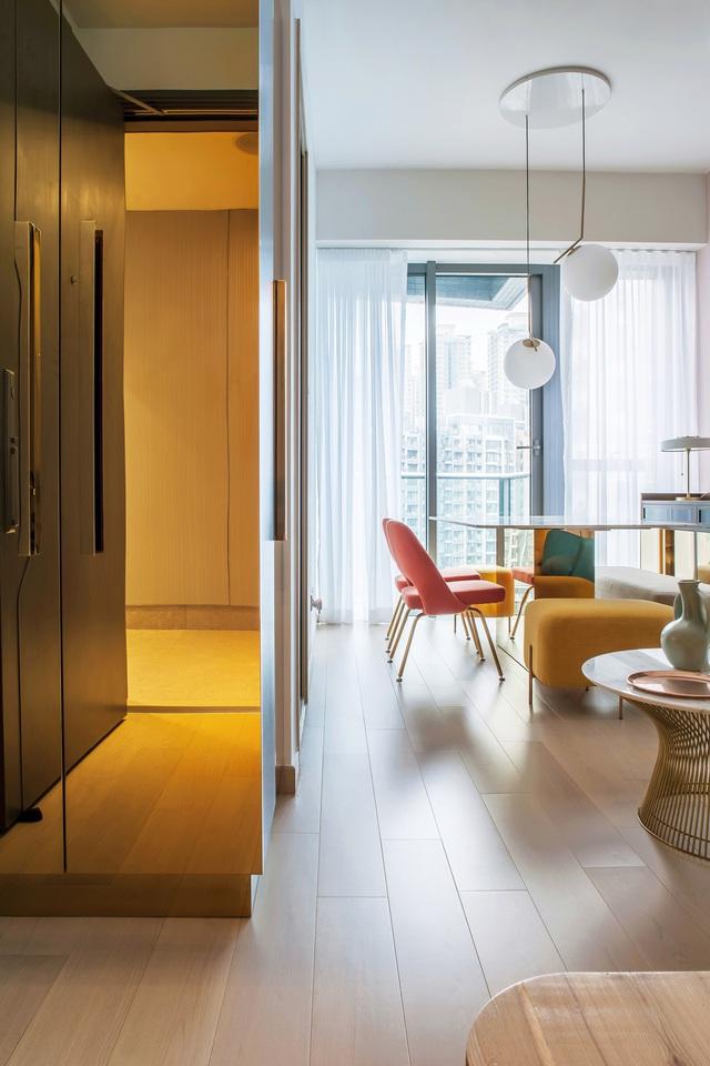 KTS lột xác cho căn hộ 46m² với bảng màu sáng để làm cho các phòng có vẻ lớn hơn - Ảnh 3.