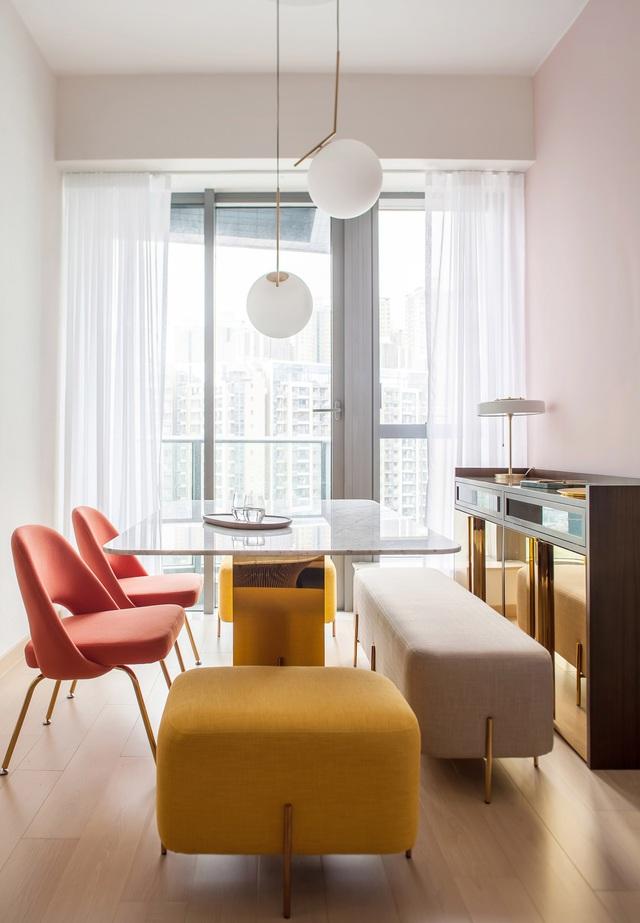 KTS lột xác cho căn hộ 46m² với bảng màu sáng để làm cho các phòng có vẻ lớn hơn - Ảnh 4.