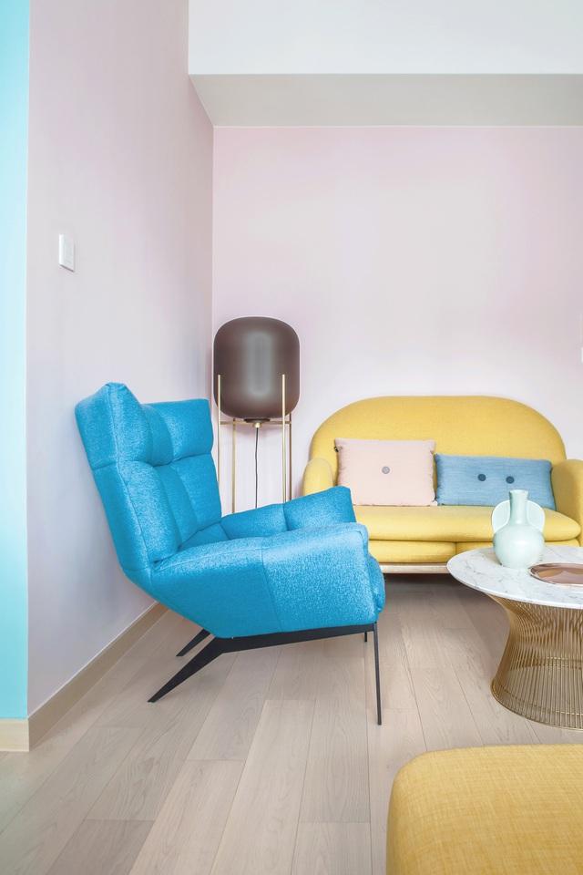 KTS lột xác cho căn hộ 46m² với bảng màu sáng để làm cho các phòng có vẻ lớn hơn - Ảnh 6.