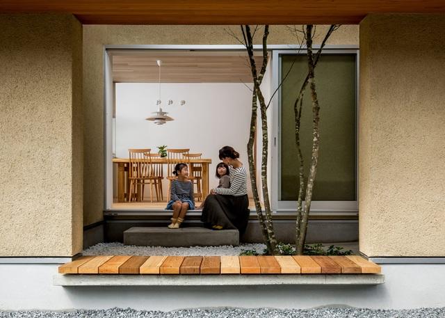 Ngôi nhà bình yên đến nao lòng với khoảng sân vườn thiết kế nghệ thuật đẹp như tranh vẽ  - Ảnh 2.