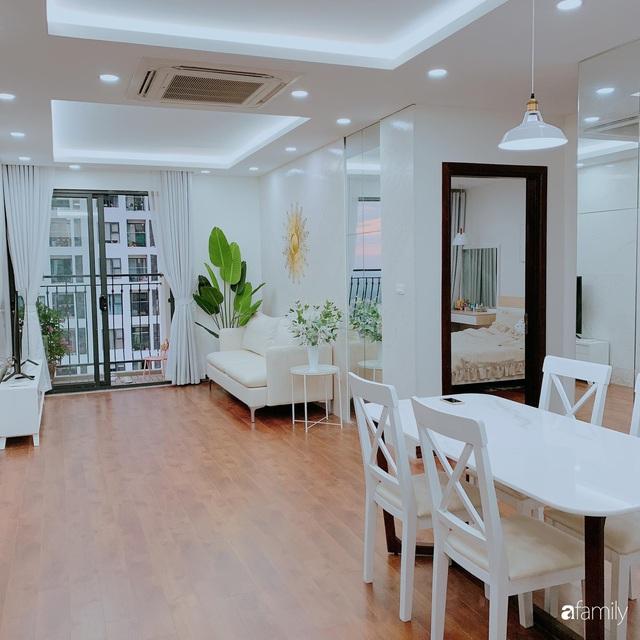 Căn hộ 90m² như được nhân đôi không gian nhờ cách decor khéo léo với sắc trắng ở Hà Nội - Ảnh 4.