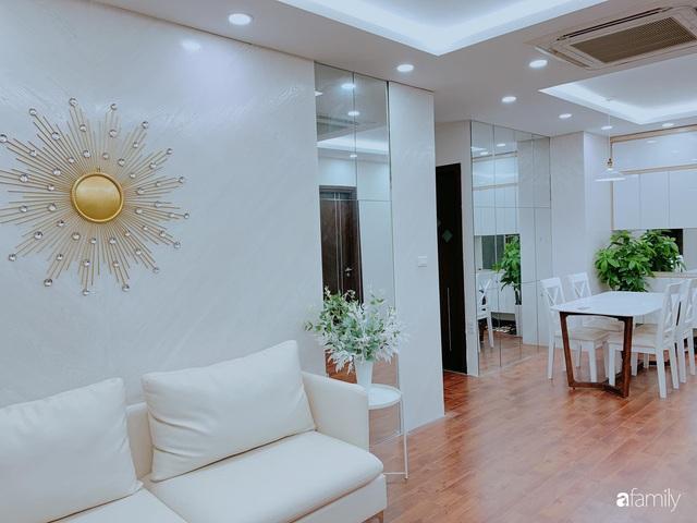 Căn hộ 90m² như được nhân đôi không gian nhờ cách decor khéo léo với sắc trắng ở Hà Nội - Ảnh 10.