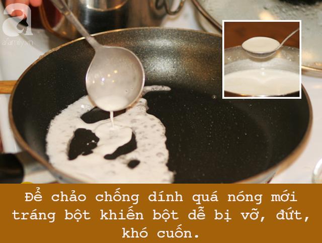 Để làm bánh cuốn bằng chảo chống dính hoàn hảo, nhất định phải tránh 5 sai lầm này - Ảnh 1.