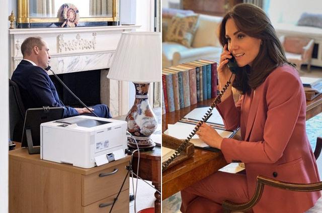 Vợ chồng Hoàng tử William - Công nương Kate vừa chỉ đạo ứng phó dịch vừa dạy con học - Ảnh 2.