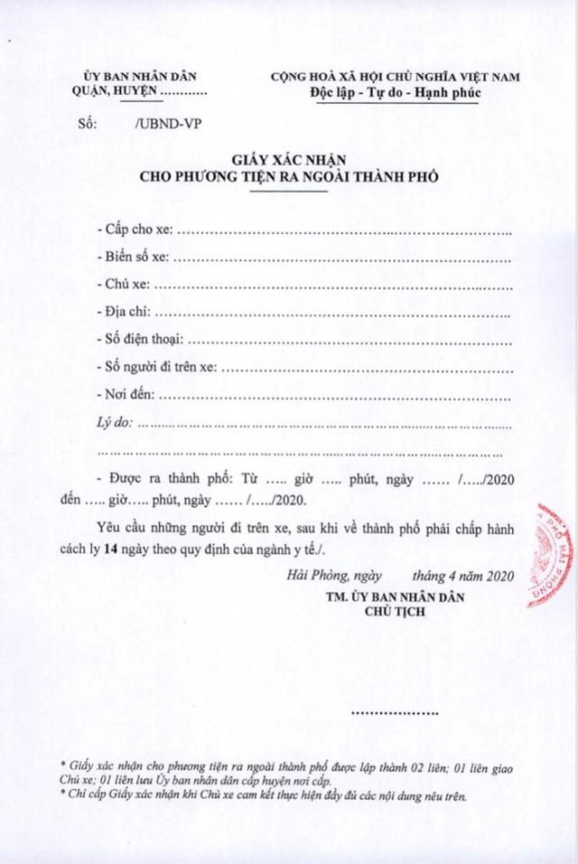 Người đi về Hải Phòng phải cách ly 14 ngày, xe ra vào thành phố phải có giấy xác nhận - Ảnh 6.