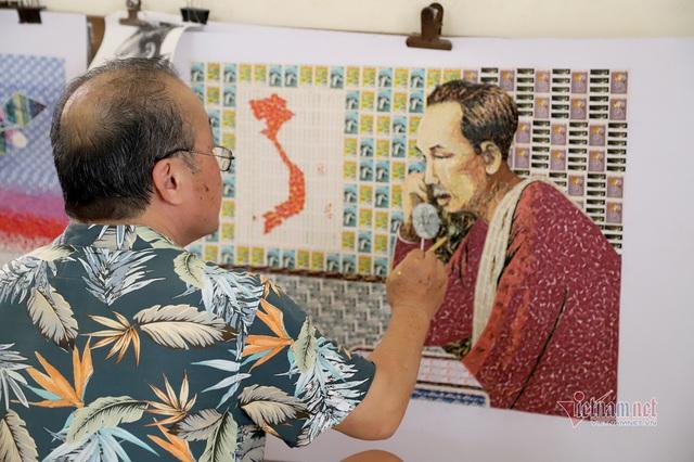 130 năm ngày sinh Bác Hồ: Kỳ công món quà ngoại giao, bí mật trong tranh ghép Bác Hồ - Ảnh 2.