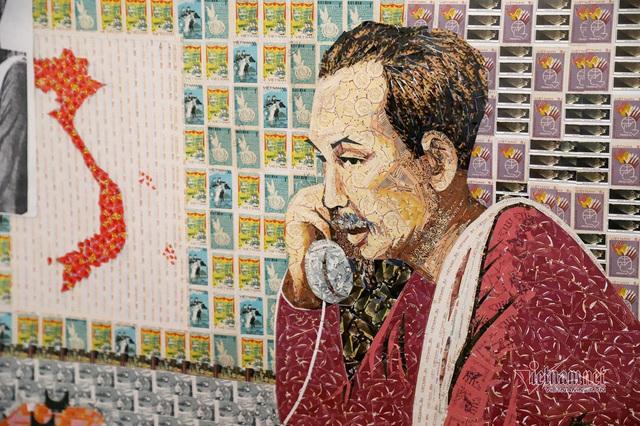 130 năm ngày sinh Bác Hồ: Kỳ công món quà ngoại giao, bí mật trong tranh ghép Bác Hồ - Ảnh 4.