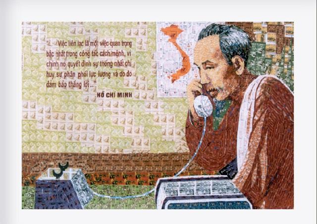 130 năm ngày sinh Bác Hồ: Kỳ công món quà ngoại giao, bí mật trong tranh ghép Bác Hồ - Ảnh 5.