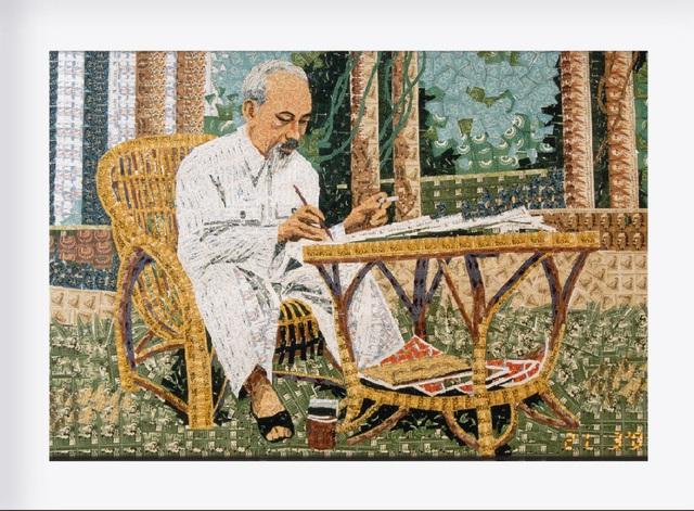 130 năm ngày sinh Bác Hồ: Kỳ công món quà ngoại giao, bí mật trong tranh ghép Bác Hồ - Ảnh 7.