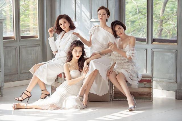 4 mỹ nhân Tình yêu và tham vọng quyến rũ với váy trắng - Ảnh 1.