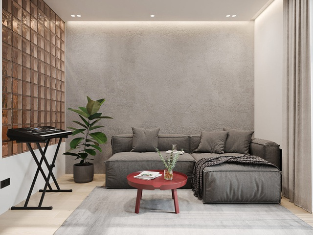 Ngắm nhà nhỏ chưa tới 50m² được dày công thiết kế theo phong cách công nghiệp đơn giản nhưng sang trọng - Ảnh 1.