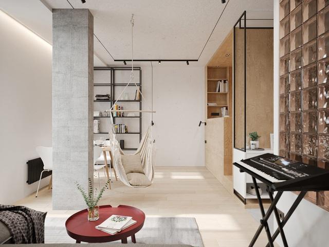 Ngắm nhà nhỏ chưa tới 50m² được dày công thiết kế theo phong cách công nghiệp đơn giản nhưng sang trọng - Ảnh 3.