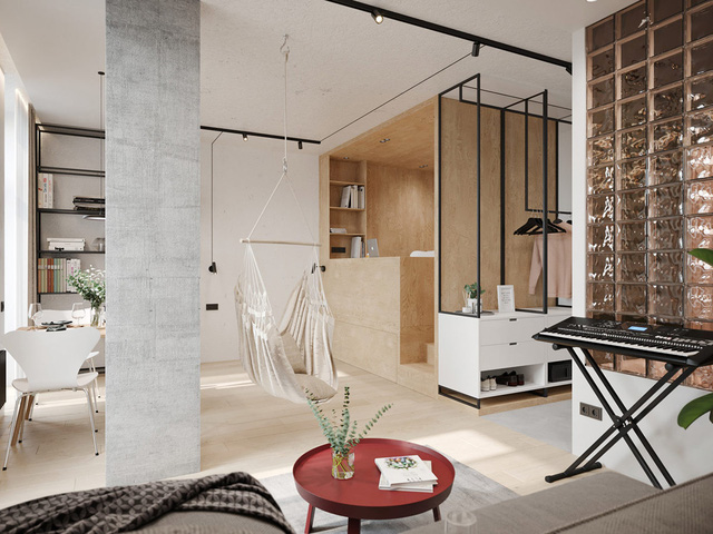 Ngắm nhà nhỏ chưa tới 50m² được dày công thiết kế theo phong cách công nghiệp đơn giản nhưng sang trọng - Ảnh 4.