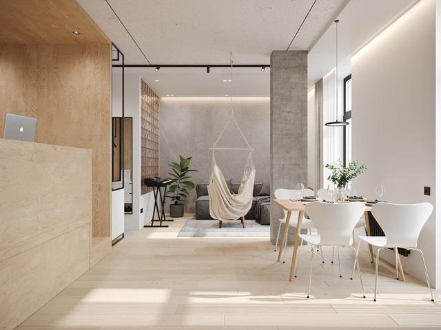 Ngắm nhà nhỏ chưa tới 50m² được dày công thiết kế theo phong cách công nghiệp đơn giản nhưng sang trọng - Ảnh 6.
