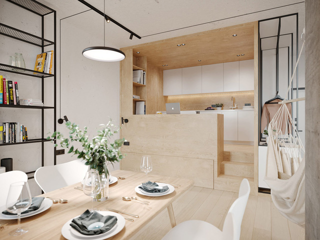 Ngắm nhà nhỏ chưa tới 50m² được dày công thiết kế theo phong cách công nghiệp đơn giản nhưng sang trọng - Ảnh 7.
