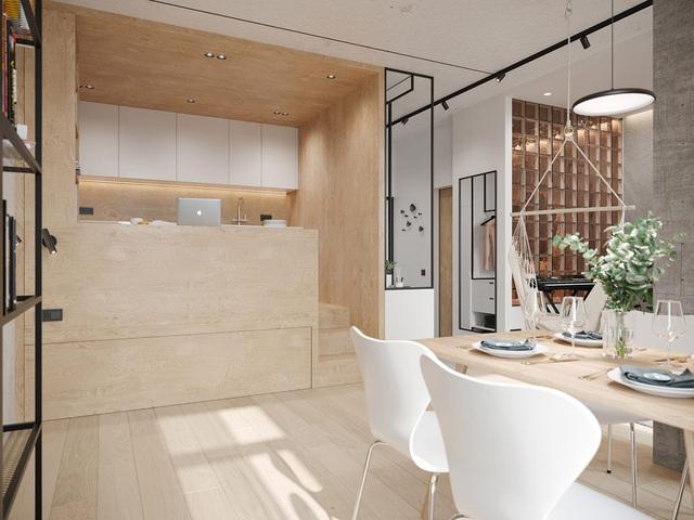 Ngắm nhà nhỏ chưa tới 50m² được dày công thiết kế theo phong cách công nghiệp đơn giản nhưng sang trọng - Ảnh 8.