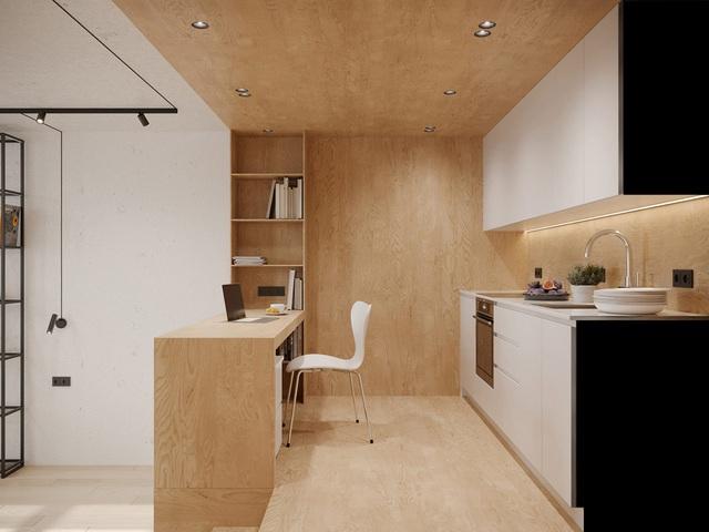 Ngắm nhà nhỏ chưa tới 50m² được dày công thiết kế theo phong cách công nghiệp đơn giản nhưng sang trọng - Ảnh 9.