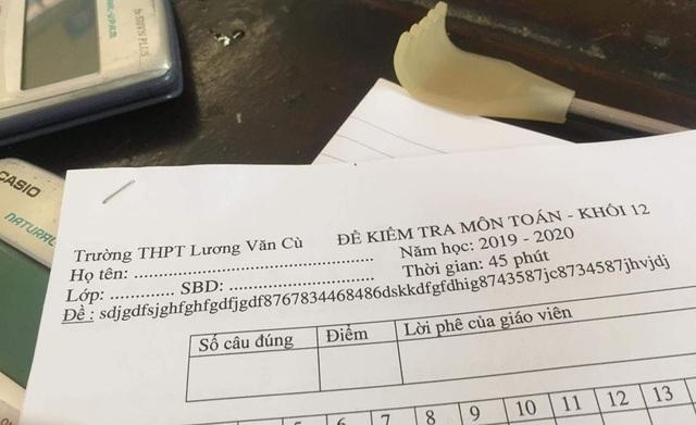 Thêm một minh chứng cho IQ cao siêu của thầy cô giáo, nhìn mã đề thi Toán đã đủ khiến học sinh vã mồ hôi - Ảnh 1.