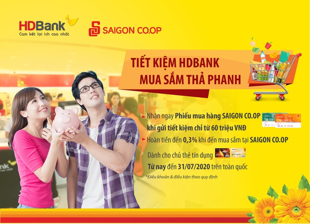 Tiết kiệm HDBank, mua sắm thả phanh - Ảnh 2.