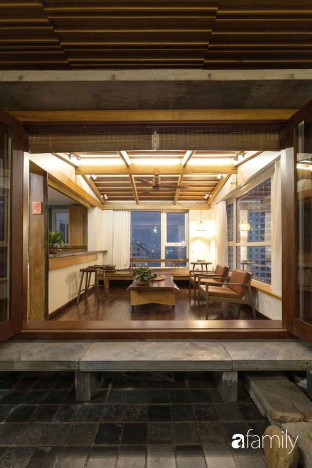 Căn hộ tầng 26 phá vỡ khuôn mẫu cứng nhắc để biến thành resort trên cao với ánh sáng và cây xanh đẹp mắt ở Cầu Giấy, Hà Nội - Ảnh 12.