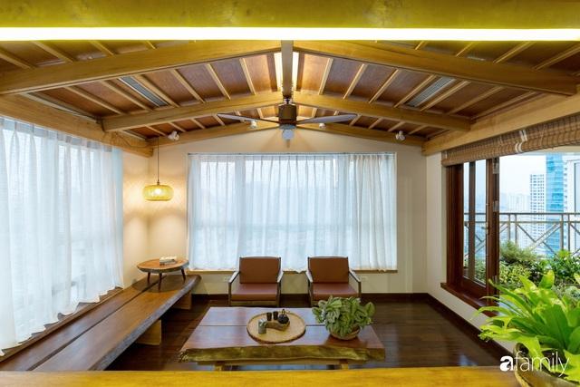 Căn hộ tầng 26 phá vỡ khuôn mẫu cứng nhắc để biến thành resort trên cao với ánh sáng và cây xanh đẹp mắt ở Cầu Giấy, Hà Nội - Ảnh 6.