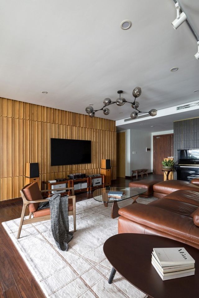 Căn hộ tầng 26 phá vỡ khuôn mẫu cứng nhắc để biến thành resort trên cao với ánh sáng và cây xanh đẹp mắt ở Cầu Giấy, Hà Nội - Ảnh 9.