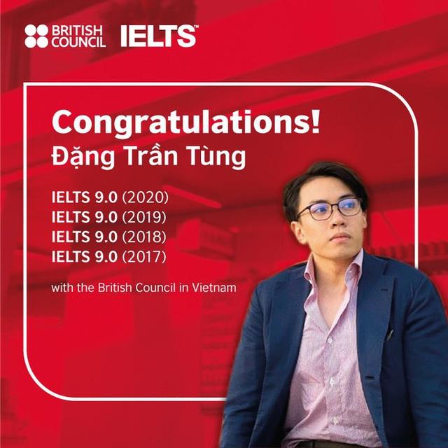 Thí sinh đầu tiên 4 lần đạt điểm IELTS 9.0 với Hội đồng Anh ở Việt Nam - Ảnh 1.